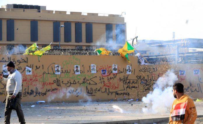 Біля посольства США в Іраку знову впали ракети