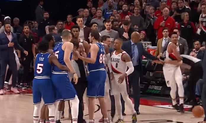 Український баскетболіст влаштував розборки з суперником у матчі НБА