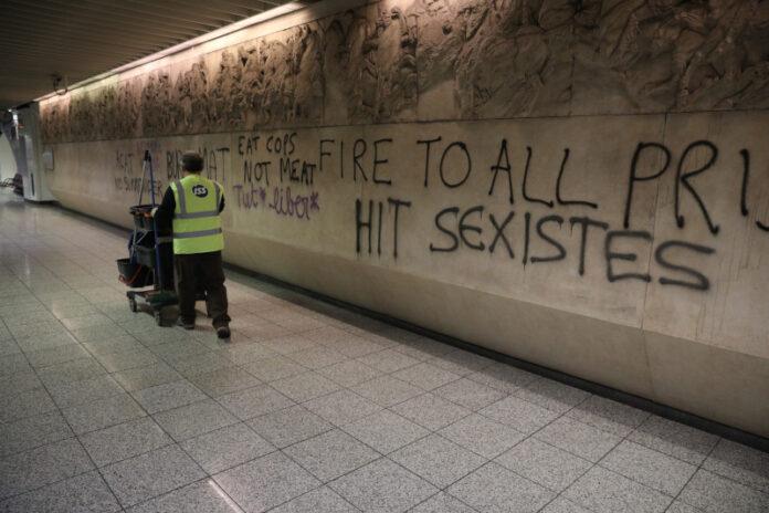 Станція Акрополь: 43 арешти за вандалізм