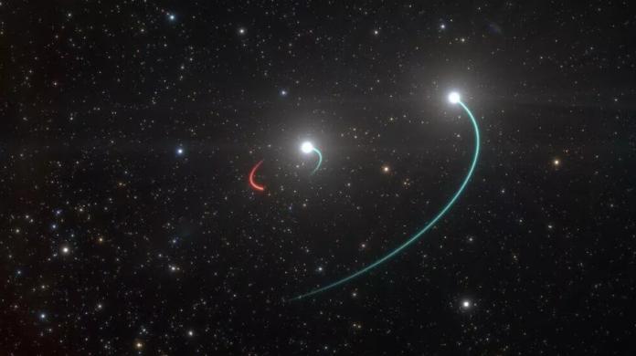 Вчені знайшли недалеко від нас потрійну зоряну систему з чорною дірою в центрі