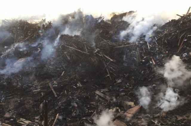 Філі: Пожежа на сміттєвому полігоні