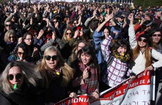 Афінські вчителі провели мітинг у центрі столиці
