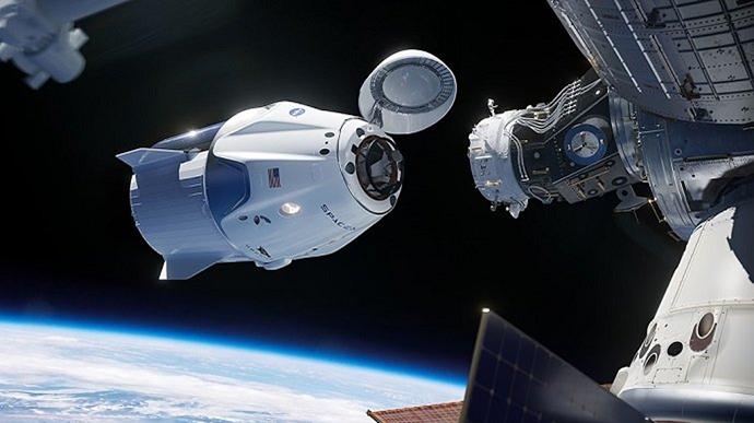 Запуск корабля Crew Dragon до МКС